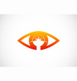 eye abstract optic logo vector image vector image