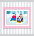 Family Play4 Photo vector image vector image