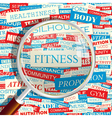 FITNESS vector image vector image