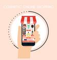 flat design concepts of online vector image