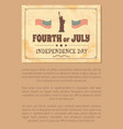 fourth of july independence day poster usa flags vector image vector image
