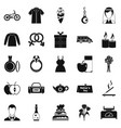 gift for woman icons set simple style vector image