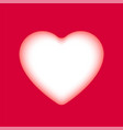 hand-drawn paper cut red heart element vector image vector image