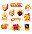 hot sale redhot offer price label for vector image vector image