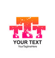 initial letter t ttt logo template colorful vector image