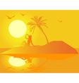 island girl vector image vector image