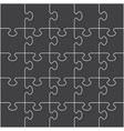 jigsaw puzzle pieces background pattern template vector image