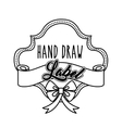 Label and decoration bowtie icon Hand draw design vector image vector image
