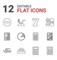 math icons vector image vector image