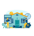 mortgage and house loan concept vector image
