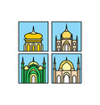 mosque icon mosque muslim islamic symbol vector image