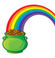 pot gold and rainbow vector image vector image