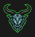 ram goat mascot e sports logo vector image vector image
