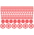 red flowers ornament on a white background vector image vector image