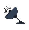 satellite bowl antenna vector image vector image