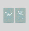 save the date decoration wedding card vector image