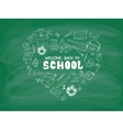 School objects in the shape of heart vector image vector image