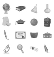 Science icons set gray monochrome style vector image vector image