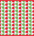 seamless pattern background with colorful apples vector image vector image