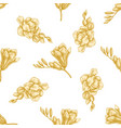 seamless pattern with hand drawn pastel freesia vector image
