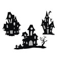 set haunted houses for halloween collection vector image