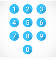 set of 0-9 numbers vector image vector image