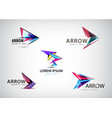 set of abstract arrow logos pointer vector image vector image
