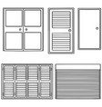 set of door vector image vector image