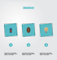 set of drink icons flat style symbols with seed vector image