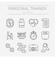 set of line icons for personal trainer vector image vector image
