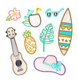 set of vacation objects vector image vector image