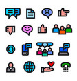 social media icons vector image vector image
