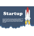 space shuttle launch business or vector image vector image