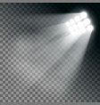 stadium lights effect on a transparent background vector image vector image