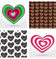 striped heart on white background Valentines day vector image vector image
