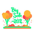 the big autumn sale for 20 percent vector image