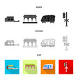 train and station symbol vector image vector image