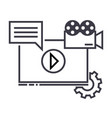 video marketing line icon sign vector image vector image