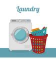 wash machine laundry service vector image