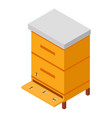 wooden hive icon isometric style vector image