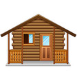 wooden house isolated a white background vector image