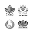 Yoga monograms and logos set vector image vector image