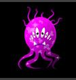 cartoon bacteria fun character cute monster vector image