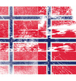 Flag of Norway with old texture vector image