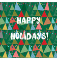 Christmas and new year card with trees and vector image