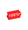 100 discount hang tag template vector image vector image