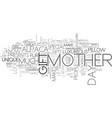 a great mother s day gift ideas text word cloud vector image vector image