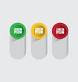 abstract infographic 3 option vector image