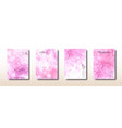 abstract pink watercolor hand painted surface vector image vector image