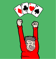 ases poker cards vector image vector image